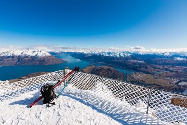 View from top of the Remarkbles Mountain, Queenstown, New Zealand